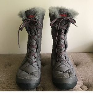 Columbia grey 200gram quilted boot New size 7